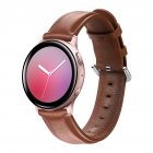 Leather Watch Strap for Sumsung Galaxy Watch Active/Active 2 Brown L code