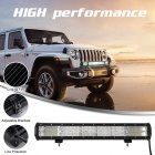 Led Bar Driving Lights Triple Row 20inch 288W Flood Combo Working Light black_20 inch 288W