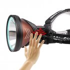 Led Headlamp XHP90 Bright 3 Mode Lamp Torch USB Rechargeable Flashlight for Cycling Brown + black_K09