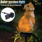 Led Solar Powered Lawn Light Resin Ornament Crafts for Garden Lawn Outdoor Decor