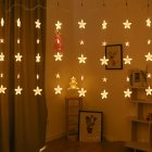 Led String Lights Star Fairy Lights Window Curtain Indoor Tree Decoration Warm White