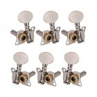 Left Right Classical Guitar String Tuning Pegs Machine Heads Tuners Keys Part 3L3R Professional Guitar Parts Accessories white
