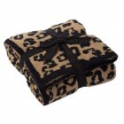 Leopard Print Throw  Blanket For Women Girls Teens Children Fleece Blanket For Bed Crib Couch Black Leopard