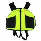 Life Vest with Whistle Swimming Boating Drifting Water Sports Jacket Polyester Adult Life Vest Jacket Fluorescent green_One size-adjustable size
