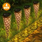 Litake 4PACK Outdoor Solar LED Lights Rechargeable Lawn Garden Road Lamps Decorative Garden Spot Path Lights Set