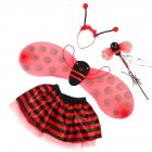 Little Bee Wings Props Costumes Princess Dance Skirts Halloween Decor 4pcs ladybug set