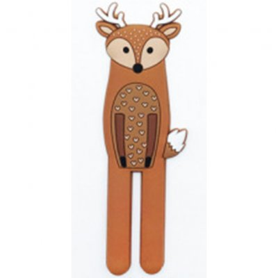 Lovely Cartoon Animal Shape Mag Refrigerator Sticker Hanging Hook Home Accessories  Fawn