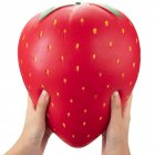 Lovely Extra Large Strawberry Silicone Slow Rising Squishy Squeeze Toy Stress Reliever Kid's Toy  Extra large strawberry