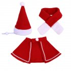 Lovely Pet Christmas Costume Santa Claus Cape/Hat/ Scarf for Cats Dogs 3PCS