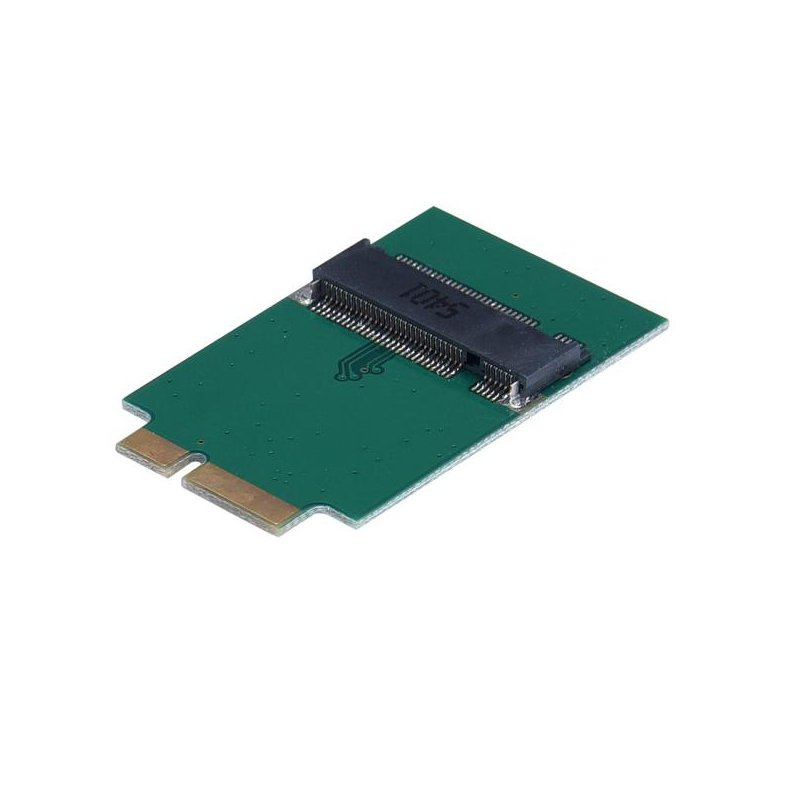 M.2 NGFF SSD To 12+6 Pin Adapter For MacBook Air 2010 2011 A1370 A1369 green
