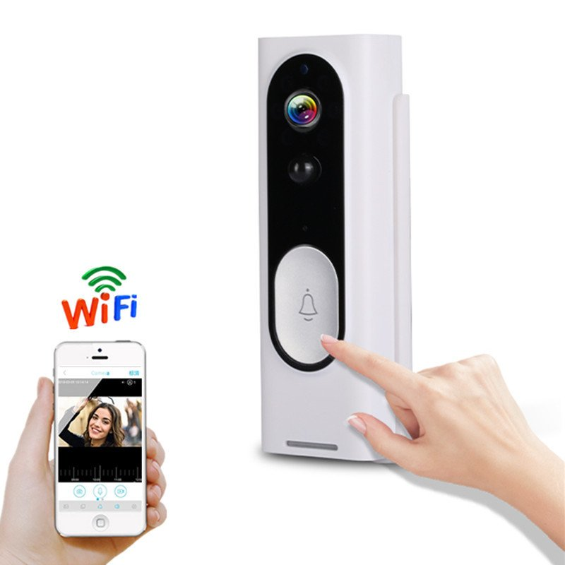 M13 Smart Home Security Remote Control Intercom 1080P Wireless WIFI Visual Doorbell white