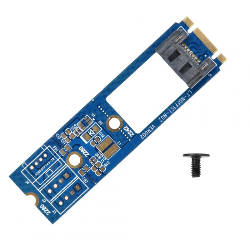 M2 TO SATA M.2 NGFF SATA to 7Pin SATA Converter Adapter Card Horizontal 1PCS NGFF1ST-N01 Adapter Card blue