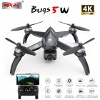MJX Bugs 5 W B5W 5G WIFI FPV with 4K Camera GPS Brushless Altitude Hold RC Drone Quadcopter RTF 1 battery
