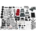 MK86KS   1:12 Kit 2.4g 4wd Unassembled G550 4*4 230mm Wheelbase Crawler Off Road Truck Wpl Mn Rc  Car 1/12 Diy 390 Brushed Motor Brabus 4*4 dark green kit version