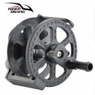 Speargun Reel Split Type Underwater Spear Spool For Spearfishing black