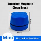 Magnetic Brush Glass Cleaning Window Algae Scraper for Aquarium Fish Bowl  blue
