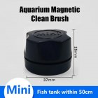 Magnetic Brush Glass Cleaning Window Algae Scraper for Aquarium Fish Bowl  black