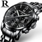 Men Automatic Waterproof Noctilucence Mechanical Watch with Steel Brand Rome 026 high-end all black
