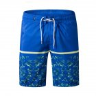 Men Fashion Casual Beach Surf Shorts Quick-drying Shorts Color blue_M