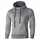 Men Fashion Casual Sports Hoodie Fine Craft Drawstring Sweatshirts Tops gray_M