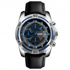 Men Fashion Luxury Quartz Business Wristwatch Blue