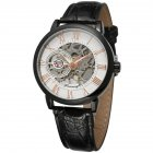 Men Fashion Watch - Silver Shell White Surfac