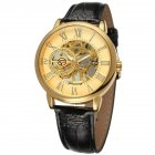 Men Fashion Watch - Gold Shell Gold Surface