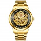 Men Mechanical Wristwatch - Gold Black