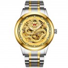 Men Mechanical Watches - Silver Gold