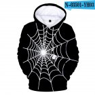 Men Women 3D Halloween Spider Web Digital Printing Hooded Sweatshirts N-03501-YH03 C style_XL