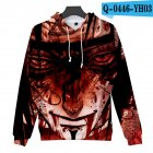 Men Women 3D Naruto Series Digital Printing Loose Hooded Sweatshirt Q-0445-YH03 D_XL