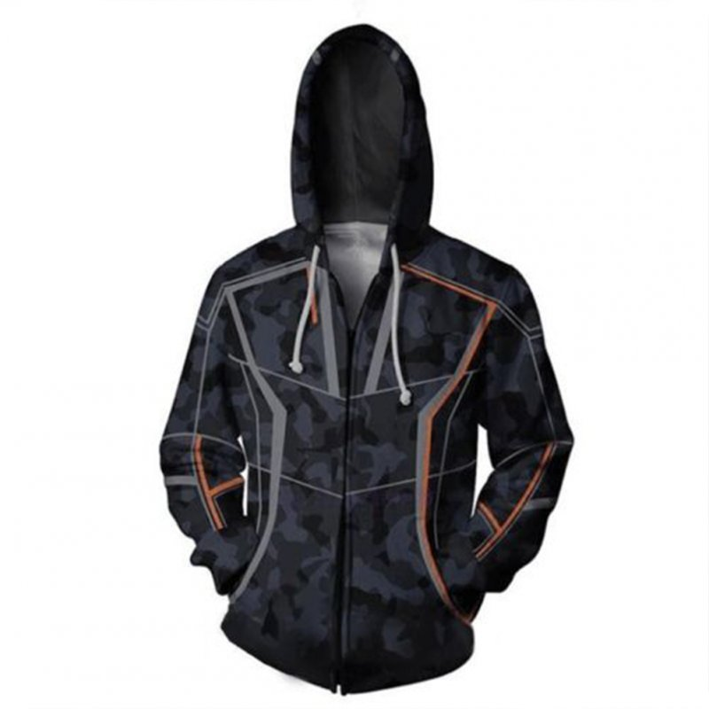 Men Women Avengers Endgame 3 Infinity War Iron Man Tony Stark Hoodie Coat  Zipper_S
