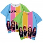 Men Women Blackpink Girls Group 3D Digital Printing Fashion Casual T-shirt Short-Sleeve Pullover Shirt B_XXL