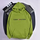 Men Women Hoodie Sweatshirt Printing Letters Thicken Velvet Loose Fashion Pullover Green_L