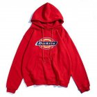 Men Women Hoodie Sweatshirt Thicken Velvet Dickies Loose Autumn Winter Pullover Tops Red_M