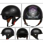 Retro Helemt Half Face Motorcylce Hat FRP Prince Helmet Asian Black Freedom L