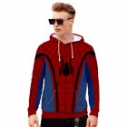 Men Women Stylish Cool Printing Spiderman Heroes Cosplay Sweater Hoodies Style A_M