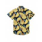 Men Women Summer Casual Banana Printed Beach Shirt 15#_M men and women can wear