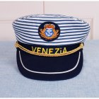 Men Women Venice Marine Sailor Stripe Hat Stage Costume Adult 58cm