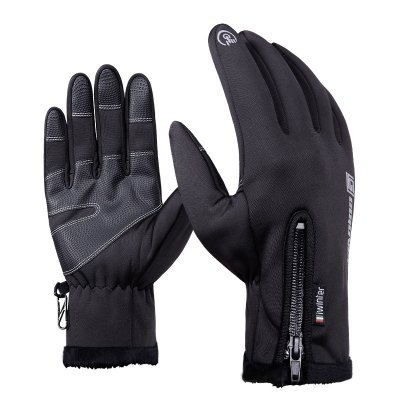Winter Warm Outdoor Sport Ski Gloves Black L