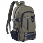 Men's Multi Pockets Canvas Backpack Green