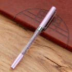 Metal Crystal Signature Pen Office Stationery Multi-color Delicate Pen Gift purple_1.0mm