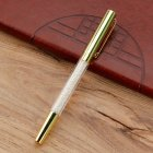 Metal Crystal Signature Pen Office Stationery Multi-color Delicate Pen Gift Imitation gold_1.0mm