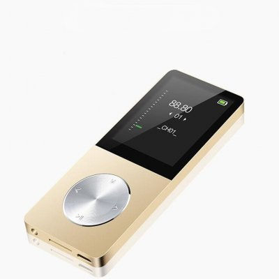 Metal Sports MP3 Insert Card MP4 HD Sound Quality Lossless Record with Screen MP3 Gold