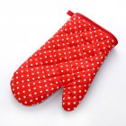 Microwave Oven Glove Insulated Baking Gloves Heat Resistant Kitchen Tool Small dots - red