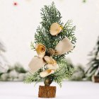 Mini Christmas Tree Shape Gifts Small Tabletop Simulate Berry/Matsuba/Cotton Shape Xmas Tree Decoration Matsuba Type B