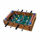 Mini Desktop Football Machine 4 Rods Wooden Table Soccer PK Party Toy Indoor Game for Kid Adult As shown