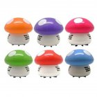 Mini Hand-held Dust Vacuum Cleaner Cute Design Portable Home Office Corner Desk Table Sweeper  mushroom_105*70*85mm