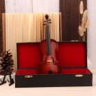 Mini Miniature Violin Model  with Stand and Case Mini Musical Instrument Ornaments  With rectangular box