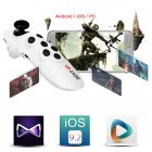 Mini Mobile Bluetooth Joystick Android Gamepad Controller Bluetooth Wireless VR glasses Remote Control for iPhone Tablet Mouse white